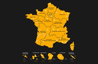 Le réseau des Commissions du Film en France